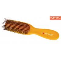 Расческа I LOVE MY HAIR Spider 1501 Желтая МАТОВАЯ M