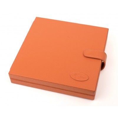 Футляр для ножниц кожаный Ginko (7 слотов) оранжевый